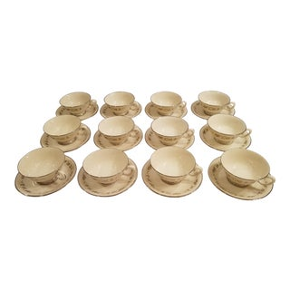 Lenox Brookdale Cups and Saucers - Set of 12 For Sale