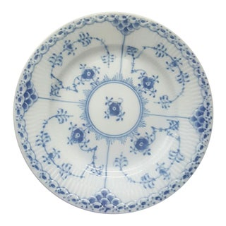 Royal Copenhagen Blue Fluted Half Lace Bread & Butter Plate