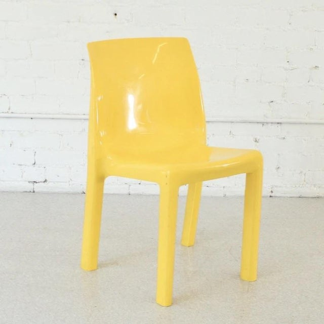 An accent chair, dining chair, you name it! This vintage yellow mod chair is full of sunshine and ready to give your space...