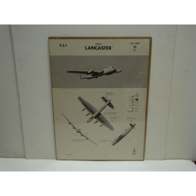 """This is a Vintage -- World War II -- Aircraft Recognition Poster -- """"Lancaster"""" -- R.A.F. -- November 1942 -- The Poster..."""