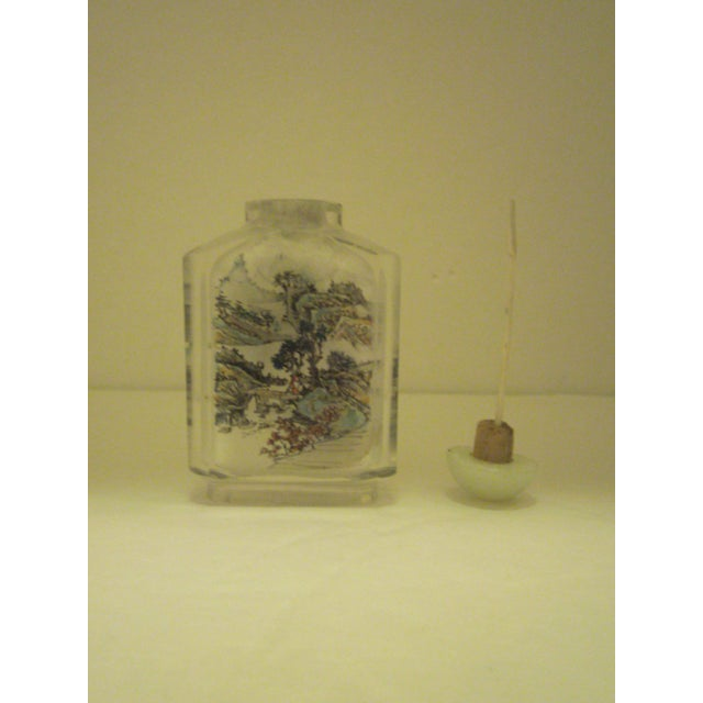 Peking Back Painted Glass Bottles - Set of 4 - Image 6 of 11