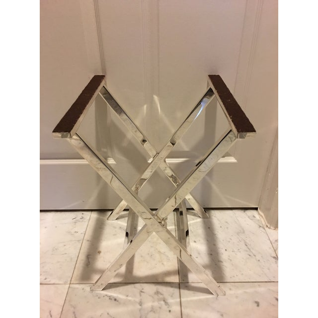 1970s Mid-Century Modern St James of Brazil Silverplate Tray Stand For Sale - Image 12 of 12