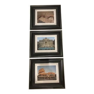 Scenes from Italy Trio of Framed Photographs - Set of 3 For Sale