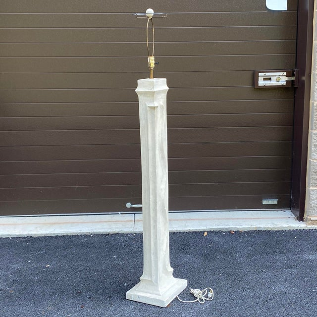 1990s 1990s Bon Art Plaster Floor Lamp For Sale - Image 5 of 12