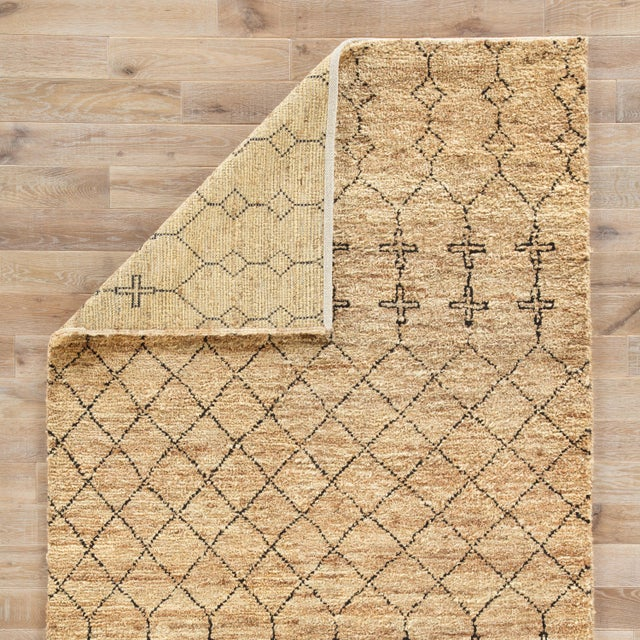 Nikki Chu by Jaipur Living Lapins Natural Trellis Tan & Black Area Rug - 8' X 10' For Sale - Image 4 of 6
