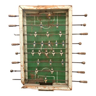 Primitive Foosball Table Wall Piece For Sale