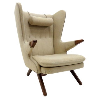 1950s Vintage Svend Skipper 'Model 91' Wingback Lounge Chair For Sale
