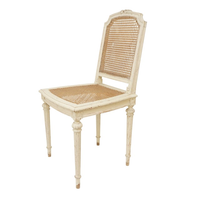 Louis XVI Style Cane Chairs With Carved Garland Detail - a Pair For Sale In San Francisco - Image 6 of 10