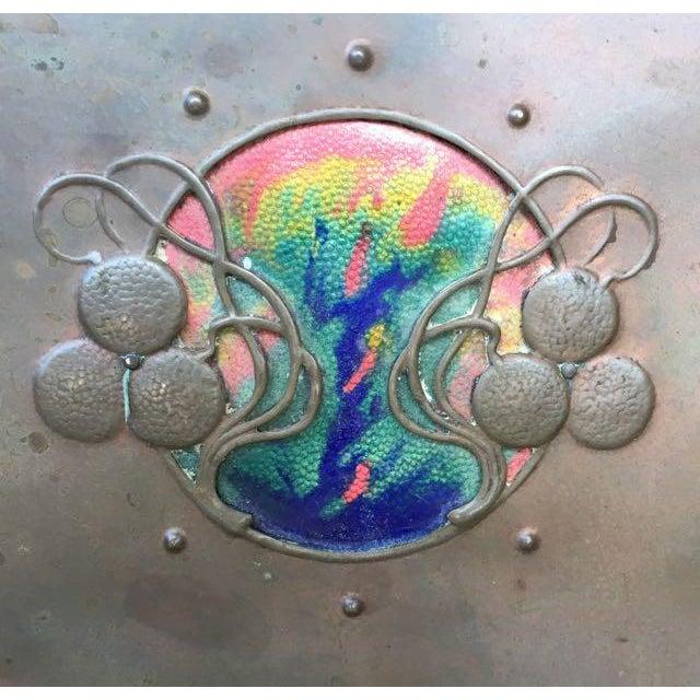 Brass Vienna Secessionist Copper Trinket Box For Sale - Image 7 of 11