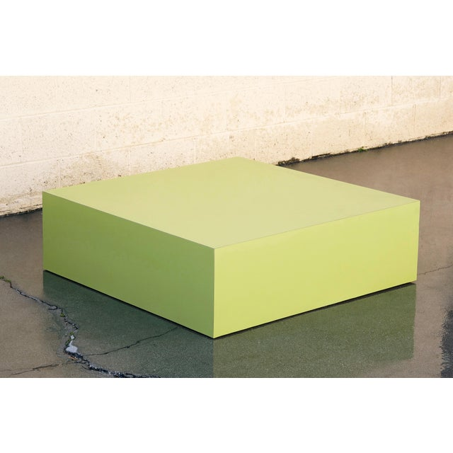 Large retail display pedestal from the late 1970s/ early 1980s. Spit pea green formica surface. Formica is in excellent...