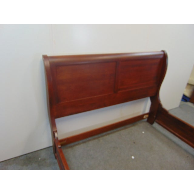 Nichols & Stone Nichols & Stone Empire Style Cherry Queen Size Sleigh Bed For Sale - Image 4 of 8