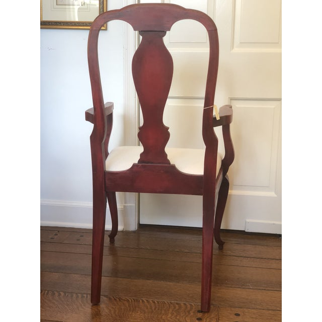 19th Century Red Japanese Arm Chair For Sale - Image 4 of 7