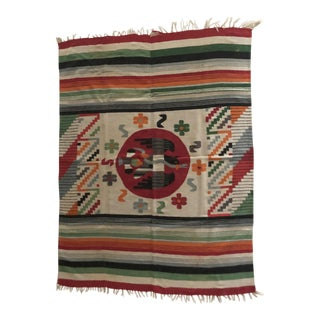 Ethnic Cotton Vintage Rug For Sale