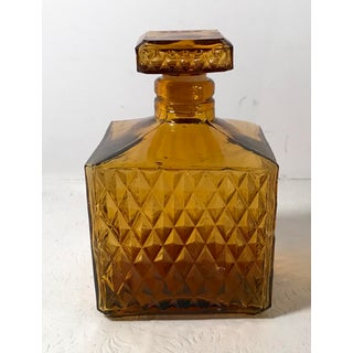 Vintage Mid-Century Modern Amber Square Decanter Preview