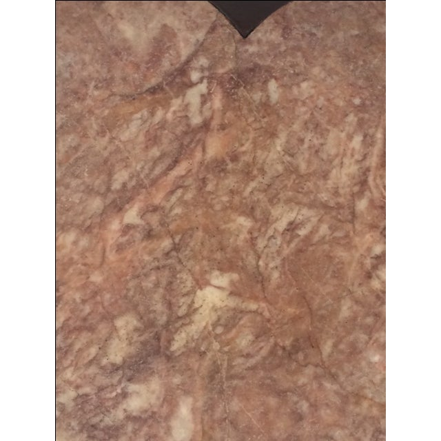 Antique Asian Clover Leaf Marble Top Table For Sale - Image 9 of 9