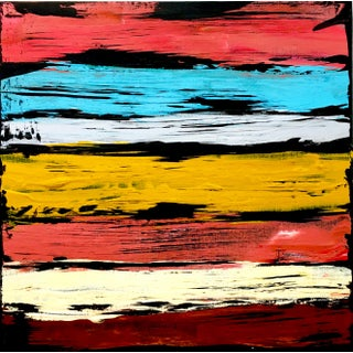 """""""South by West St Thomas"""" Contemporary Southwestern Original Abstract Acrylic Painting by Tim Hovde For Sale"""
