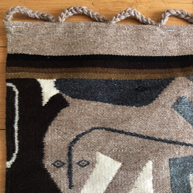 1980s 1980s Modernist Reptile Handwoven Tapestry For Sale - Image 5 of 11