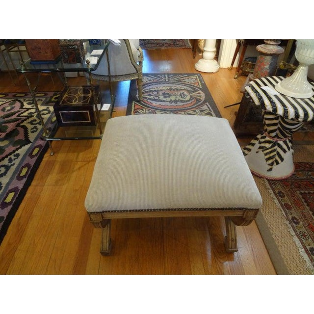 19th Century French Louis XVI Style Bench or Ottoman For Sale - Image 9 of 11