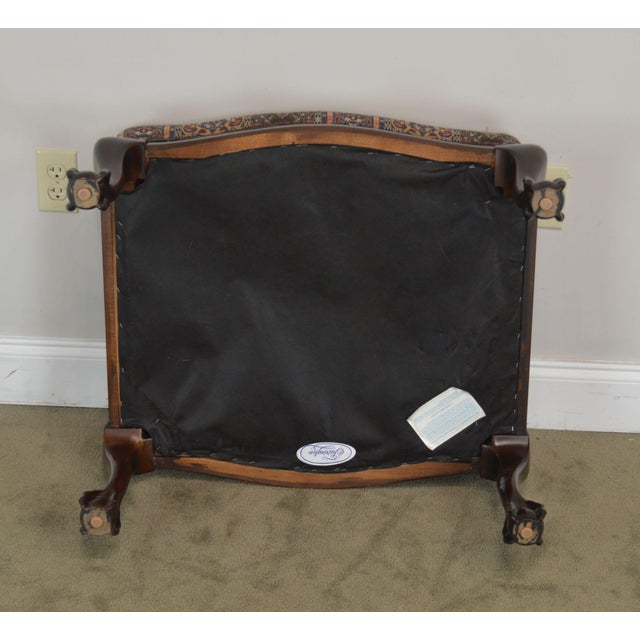 Fairington Chippendale Style Ball & Claw Foot Ottoman For Sale - Image 11 of 13