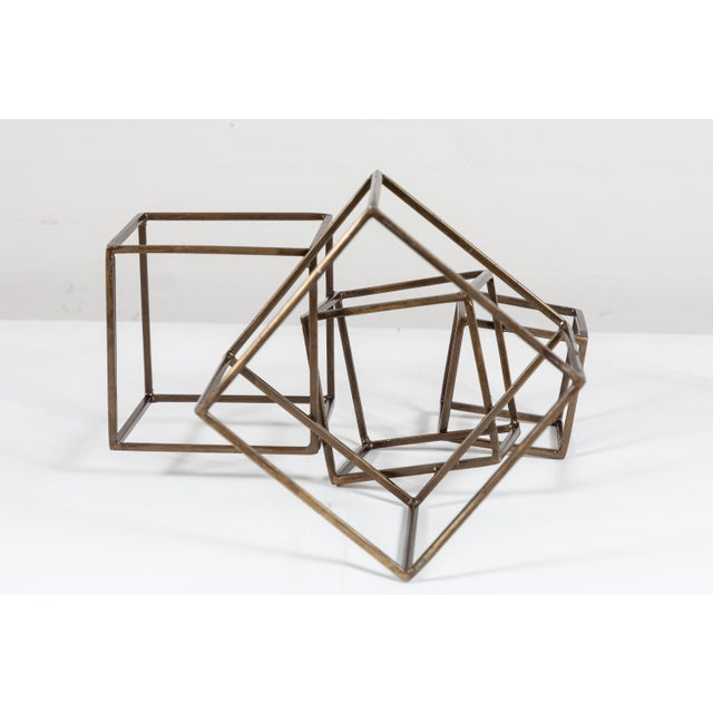 Cubist Brass Sculpture For Sale In Los Angeles - Image 6 of 8