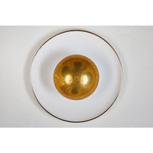 Brass 1950s Gino Sarfatti Ceiling Lamp Model #155 for Arteluce For Sale - Image 7 of 11
