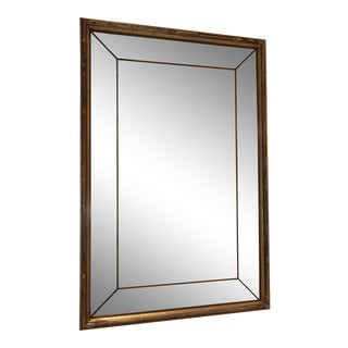 Antique Rectangular Gold Mirror For Sale