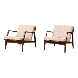 Vintage Ib Kofod-Larsen Lounge Chairs - a Pair For Sale