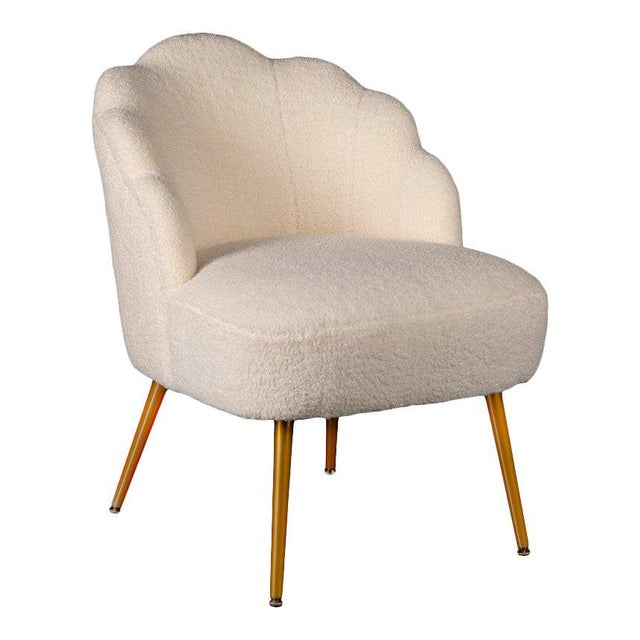2010s Kayla Boucle White Side Chair For Sale - Image 5 of 5