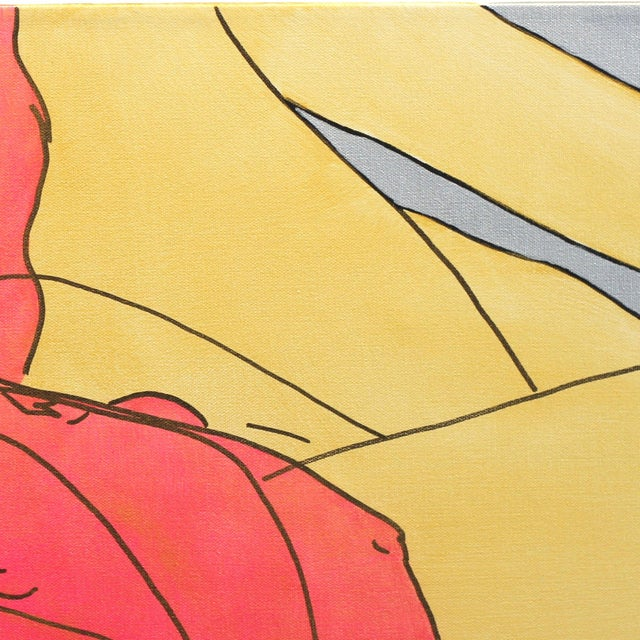 """Hilary Bond """"Pink Gold Silver"""" Original Painting For Sale - Image 4 of 9"""