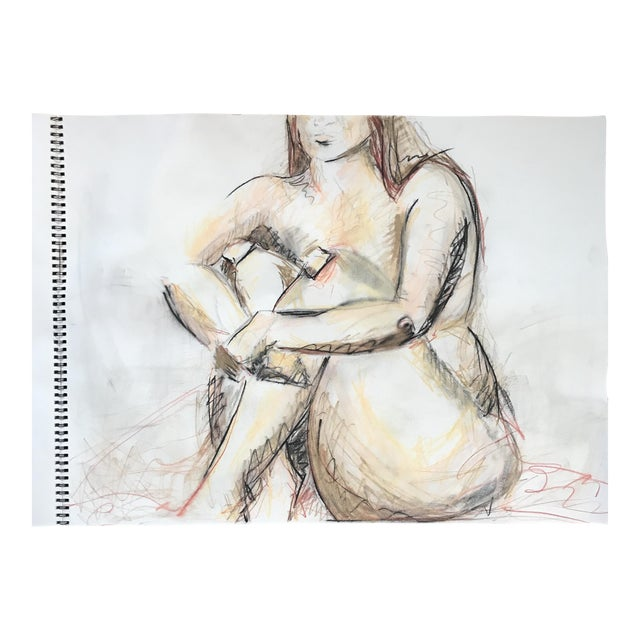 Seated Nude Drawing For Sale