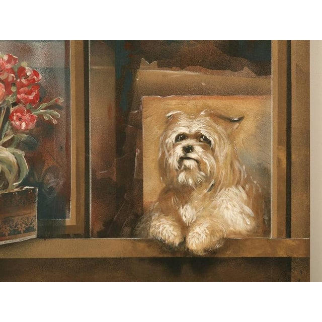"Canvas Zuleyka Benitez ""Dog in the Window"" Painting For Sale - Image 7 of 9"