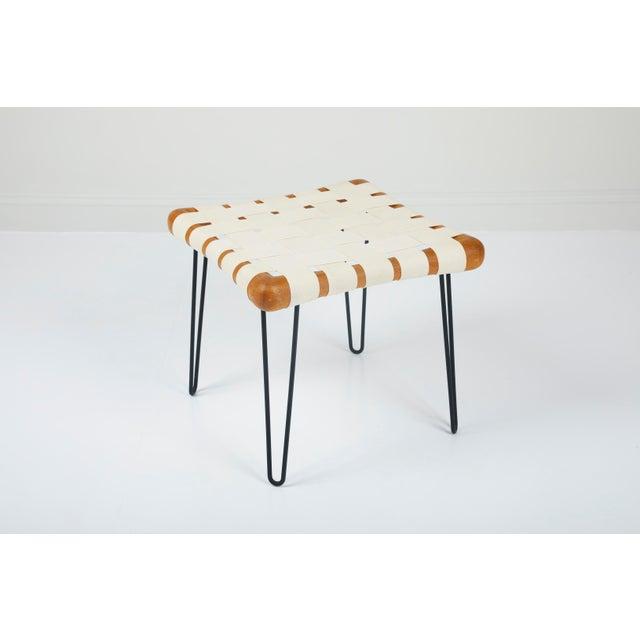 Metal t.h. Robsjohn Gibbings Widdicomb Strap Footstool Bench For Sale - Image 7 of 7