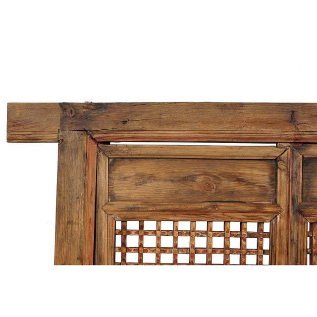 Look at this country style Chinese antique Open Carved window Panels with frame. It was made from solid wood, very sturdy....