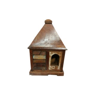 Rustic Log Reclaimed Wood Big Bird House