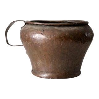 Antique Copper Jug Pot For Sale