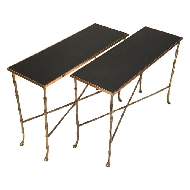 Hollywood Regency Gilt Bamboo Tables - a Pair For Sale In Palm Springs - Image 6 of 6