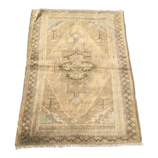 Small Vin Tage Oushak Rug For Sale