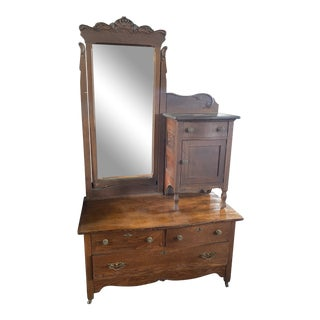 19th Century Gentlemans Chest With Mirror For Sale