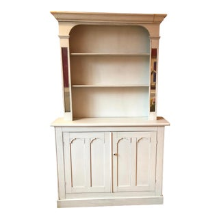 Swedish Greige 2 Mirror Accent Hutch For Sale