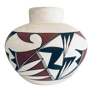 1970s Vintage Acoma Pueblo Pottery Vase For Sale