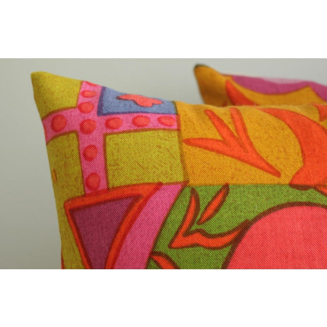 Mid-Century Modern Jack Lenor Larsen Pillow Anthony Ballatore Design Accent Pillow For Sale In New York - Image 6 of 11