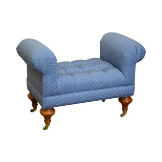 Calico Corners Regency Style Tufted Bench For Sale