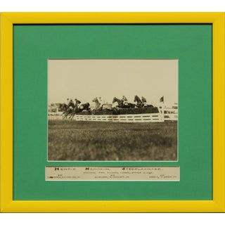 """""""Henrie Memorial Steeplechase C1925 B&w Photo From Woodbine Park Now 'Racetrack' in Toronto, Ont"""" For Sale"""