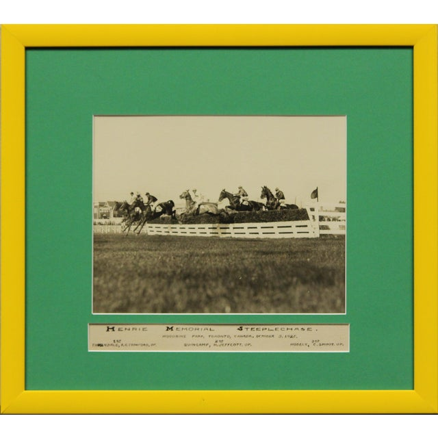 """Henrie Memorial Steeplechase C1925 B&w Photo From Woodbine Park Now 'Racetrack' in Toronto, Ont"" For Sale"