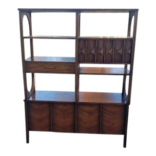 Kent Coffey Perspecta Walnut Room Divider For Sale