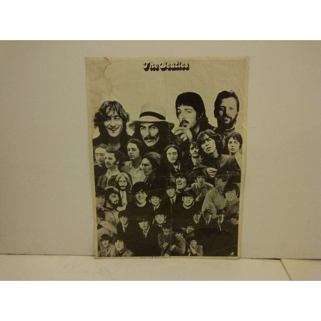 Vintage Beatles Poster Circa 1960 - Image 3 of 6