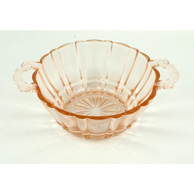 Anchor Hocking Anchor Hocking Pink Glass Bowl and Plate For Sale - Image 4 of 6