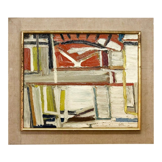 20th Century Abstract Books on a Shelf Painting by Daniel Clesse For Sale