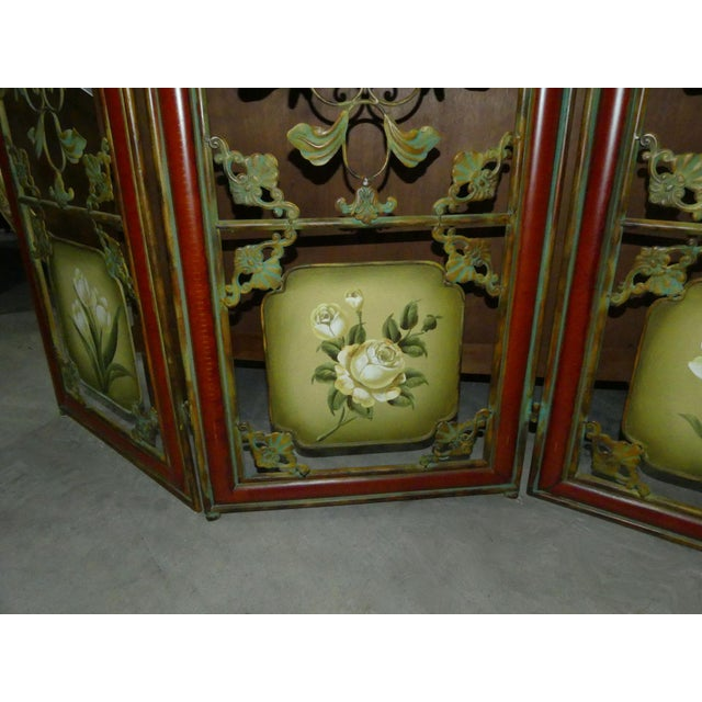Painted Metal Room Divider/ Floor Screen or Queen Size Headboard For Sale - Image 11 of 13