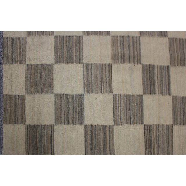 "Aara Rugs Inc. Hand Knotted Modern Kilim - 12'9"" X 9'11"" - Image 4 of 5"